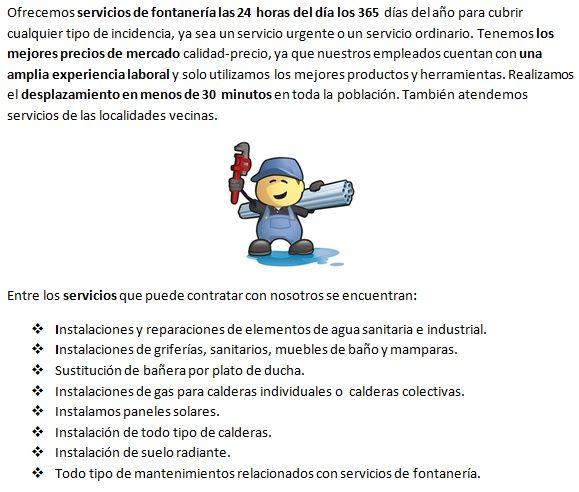 Fontaneros Pina de Ebro servicios profesionales